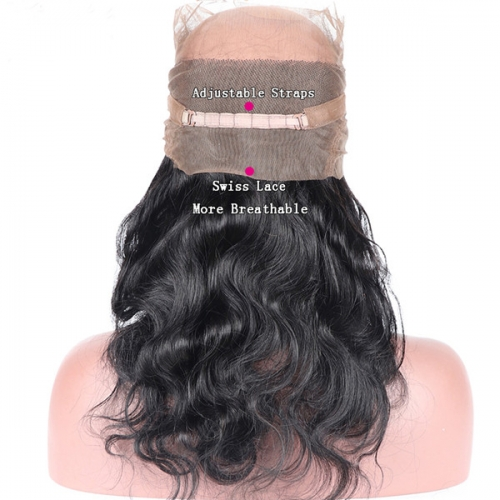 "Sidary Hair New Fashion Body Wave 360 Lace Frontal Band With Adjustable Strap 22.5""x4""x2"""