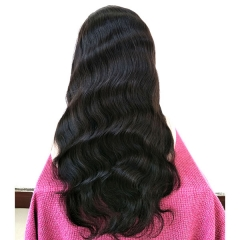 Sidary Hair Body Wave Full Lace Wigs,Natural Black, Natural Hailine, 150%Density