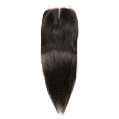 Sidary Hair Straight Hair Lace Closure 4x4 Top Closure Natural Color Virgin Hair 100% Human Hair