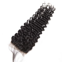 Sidary Hair Human Hair Lace Closure Deep Wave Closure With Baby Hair 4x4 Closure Virgin Hair