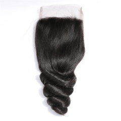 "Sidary Hair 4""x4"" Lace Closure 100% Human Hair Natural Color Loose Wave Virgin Hair 10-20Inch"