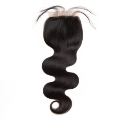 Sidary Hair Body Wave Closure 4x4 Human Hair Natural Color Virgin Hair 10-20 Inch