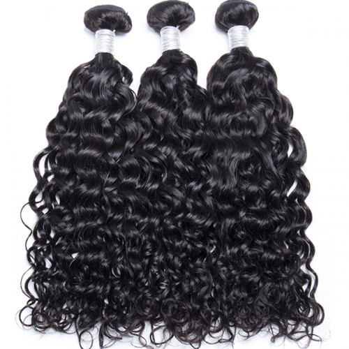 Sidary Hair Water Wave Virgin Human Hair Bundles Natural Color 3pc/lot Can Be Dyed