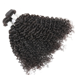Sidary Hair Jerry Curly Weave Human Hair 3 Bundles Virgin Hair Natural Color 8-30inch One Piece
