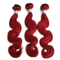 Sidary Hair Virgin Human Hair Weave Body Wave Red Color Hair Weave Bundles 3 Pieces