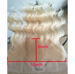 Sidary Blonde Frontal Closure 13x6 Body Wave Virgin Human Hair Lace Frontal Free Part Bleached Knots Baby Hair