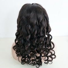 Sidary Loose Wave Full Lace Human Hair Wigs Pre Plucked Natural Hairline Fashion Virgin Hair Wig