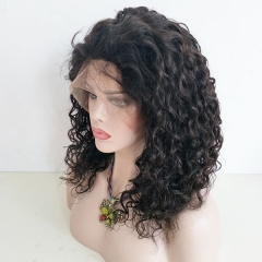 Sidary Fashion Water Wave Virgin Full Lace Human Hair Wigs With Baby Hair Pre Plucked Natural Hairline Lace Wigs
