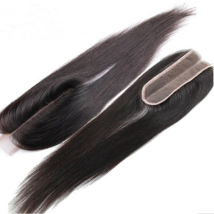 Sidary Hair Beauty Lace 2*6 Kim k Human Hair Virgin Natural Color Closure Pieces With Deep Middle Parting