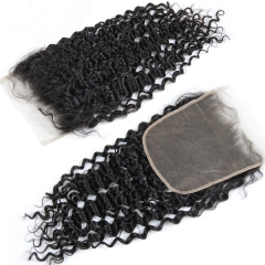 "Sidary Kinky Curly 7""x7"" Virgin Human Hair Baby Hair Around Deep Curly Lace Closure Pieces With Preplucked Natural Hairline"
