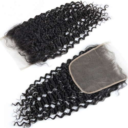 Sidary Kinky Curly 7x7 Virgin Human Hair Baby Hair Around Deep Curly Lace Closure Pieces With Preplucked Natural Hairline