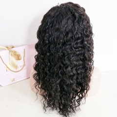 Sidary Fashion Preplucked Natural Hairline Pineapple Curl Full Lace Virgin Human Hair Wigs