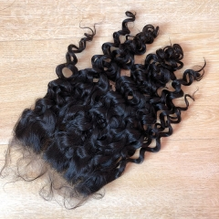 Sidary 6x6 Water Wave Virgin Human Hair Lace Closures Frontal Preplucked 6*6 Virgin Hair Top Closures
