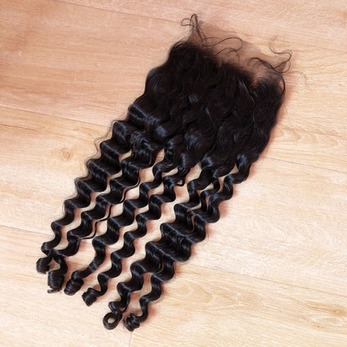 Sidary Hair Closure Piece Deep Loose Wave 7x7 Virgin Human Hair Top Lace Front Closure Pieces With Baby Hair