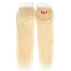 #613 Blonde Sidary 5x5 Straight Virgin Human Hair Top Lace Closure Piece