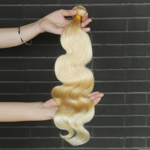 Blonde Body Wave Sidary Virgin Human Hair Bundle Extension 613 Full Blonde Hair Weft