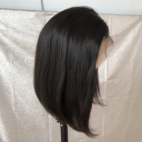 Transparent Lace 130% Natural Bob Straight Human Hair Lace Wig Sidary Natural Hairline Bob Wigs
