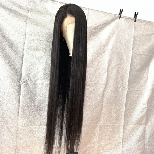 Sidary 40inch Virgin Human Hair Full Lace Silk Straight Wig With Natural Hairline