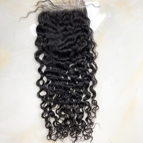 Transparent Lace Pre Plucked Natural Hairline Natural Curly 7x7 Lace Top Closure Piece Sidary Hair