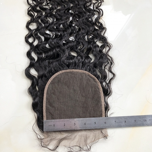 Preplucked Hairline Sidary Black 6x6 Natural Curly Human Hair Lace Closure Piece With Baby Hair