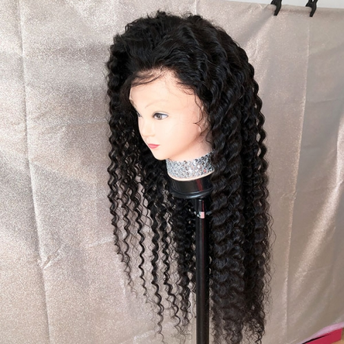 Sidary 360 Full Lace Band Frontal Wig for Black Women Deep Wave Curly Virgin Human Hair Wigs Pre Plucked Natural Hairline