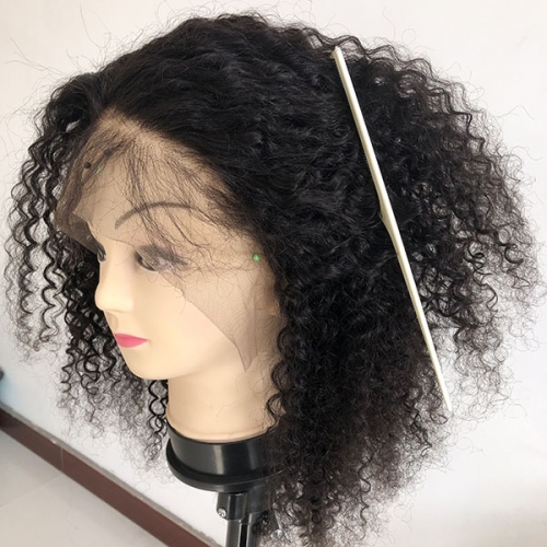 Sidary 100% Human Hair 360 Lace Frontal Curly Black Hair Wigs Preplucked Hairstyle