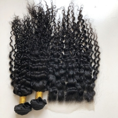Sidary Hair Malaysian Jerry Curly Human Hair Bundles With Closure 7x7 | 7*7 Closure 100% Virgin Hair Extension