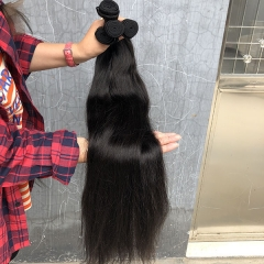 Sidary Hair 3 Bundles Bone Straight Malaysian Human Hair Weaving Bundles