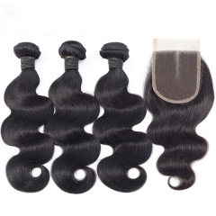 7*7 Body Wave Human Hair Closure With Bundles 7x7 Lace Closure Piece Sidary Hair Bundles