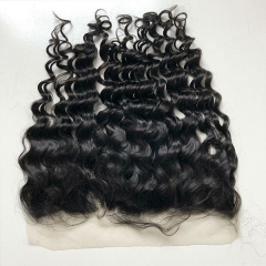 SIDARY 100% HUMAN HAIR 13X6 LACE FREE PART FRONTAL LOOSE DEEP WAVE CLOSURE PIECE