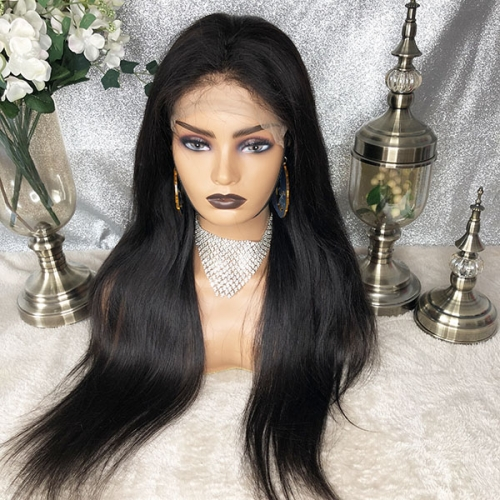 180%Density Straight Hair 7x7 Transparent Lace Closure Wig Human Hair Closure Wigs Sidary Hair