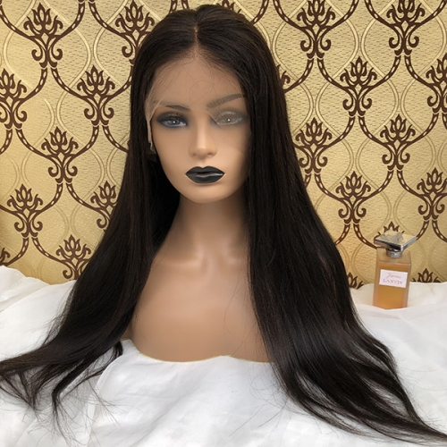Straight 13x6 Human Hair Lace Frontal Wigs Pre Plucked Natural Hairline Wigs