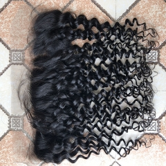 Sidary Hair Jerry Curly Ear To Ear 13x4 Transparent Lace Frontal Malaysian Virgin Hair