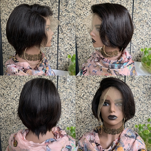 Sidary Hair Pixie Cut 13x6 Lace Front Short Human Hair Wigs For Black Women Pre Plucked 180%Density Bob Wig Glueless Hair Wigs