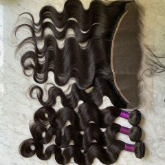 Body Wave With Frontal,Hair Bundles With 13x4 Lace Frontal/SIDARY HAIR