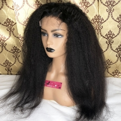 Sidary 4x4 HD Lace Front Human Hair Wigs Virgin Kinky Straight 180% Density Lace Closure Human Hair Wig
