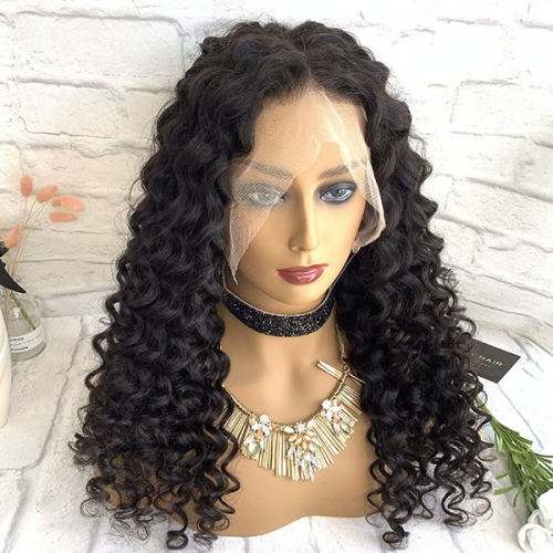 150%Density Curly 360 Lace Frontal Wigs Pre Plucked With Baby Hair Sidary Hair Glueless 360 Wig
