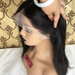 Sidary Hair 360 Lace Wigs Pre Plucked Human Hair Wigs for Women 150% Density Straight 360 Frontal Wigs for High Ponytail