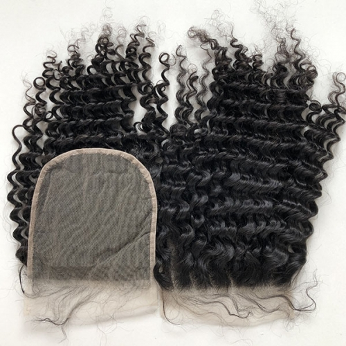 Deep Curly 6x6 Sidary Virgin Human Hair Lace Closures Piece