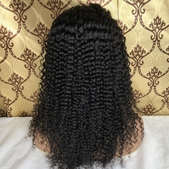 360 Lace Frontal Curly Human Hair Wigs 150% Density Curly 360 Lace Front Wigs For High Ponytail